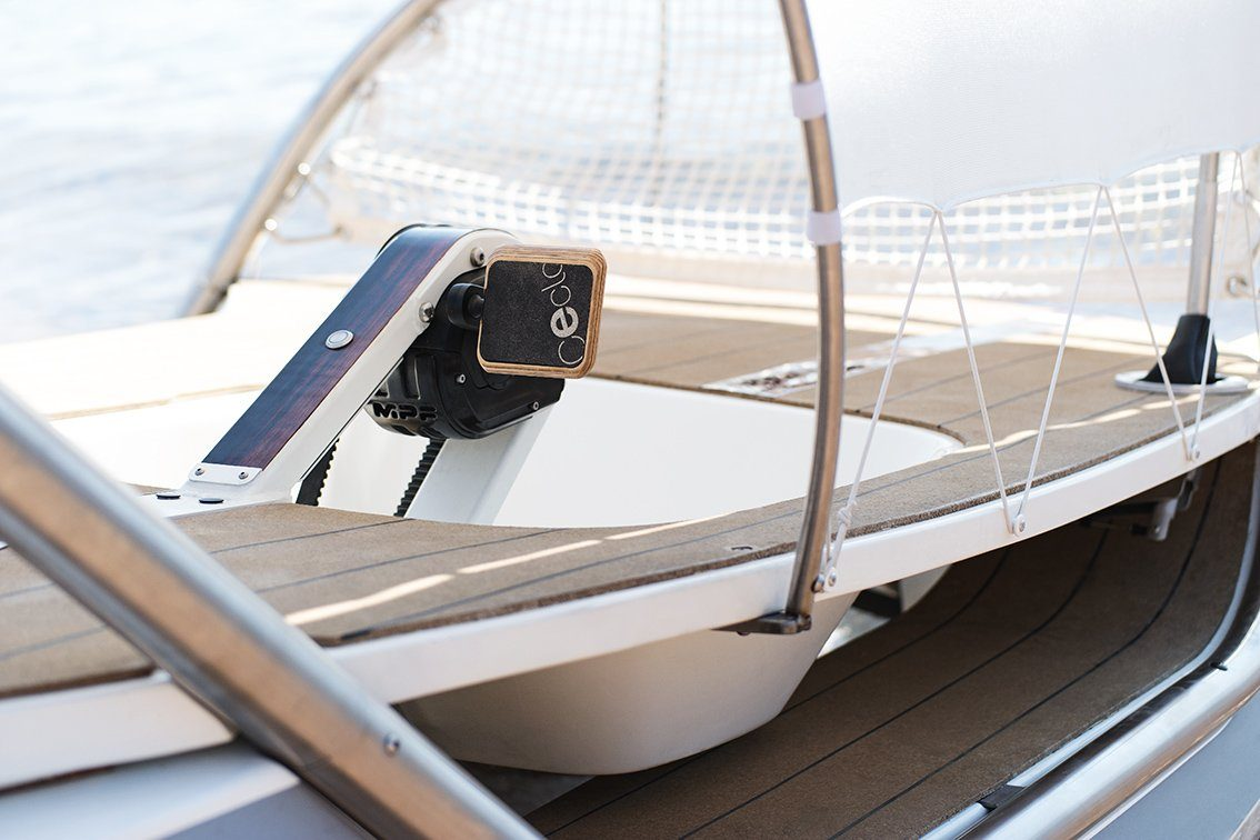 E-CATAMARAN CECLO - ORIGINAL Hybrid - Electric Hybrid Catamaran with pedals