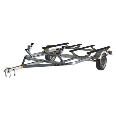 KHAP Supplier - KARAVAN  - E-Catamaran Design Galvanize Trailer W/step Fender