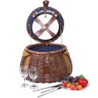 KHAP Supplier - Picnic - 'Tuileries' Round Picnic Basket - For 2 People