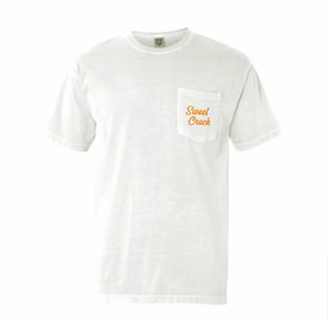 White Sweet Crack Short Sleeve Pocket Tee