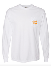 Load image into Gallery viewer, White Sweet Crack Long Sleeve Pocket Tee