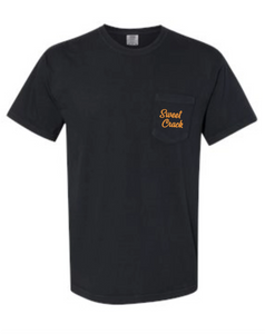 Black Sweet Crack Short Sleeve Pocket Tee