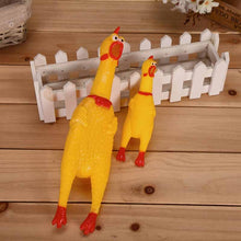 Load image into Gallery viewer, Classic Screaming Rubber Chicken Dog Toy - Squeaks when Squeezed!