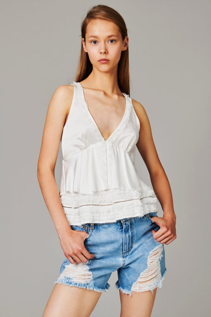 top in raso- ERMANNO SCERVINO
