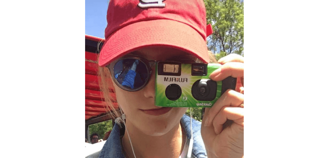 Karlie Kloss on Snapchat wearing our Sunday Somewhere Sunglasses