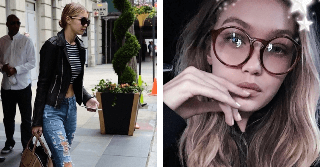 Gigi Hadid wearing Sunday Somewhere Sunglasses