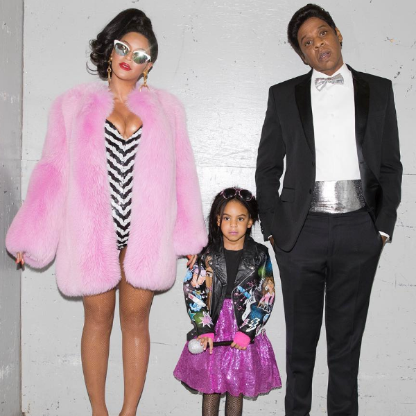 Beyonce, Jay Z and Blue Ivy as the Black Barbie Family