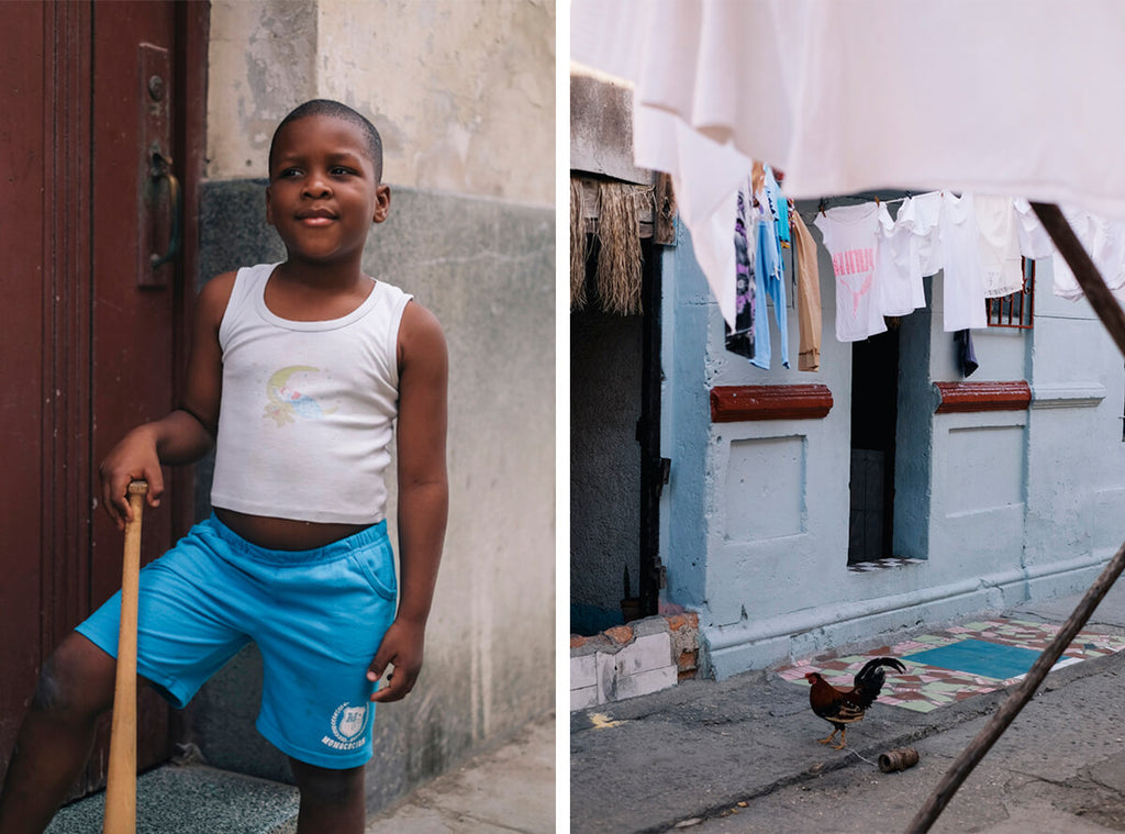 Kids playing baseball on the streets of Havana, Cuba