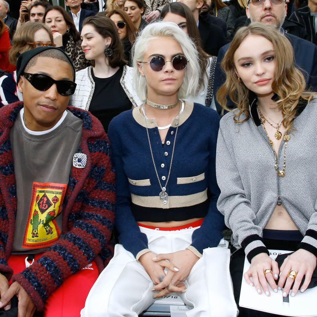 Pharrell Williams, Cara Delevingne and Lily-Rose Depp, Sunday Somewhere Sunglasses