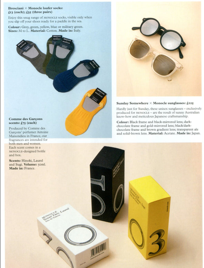 Sunday Somewhere x Monocle Magazine Sunglasses Collaboration