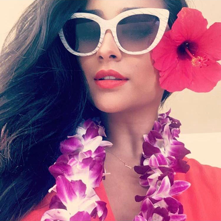 Shay Mitchell wearing Sunday Somewhere Sunglasses