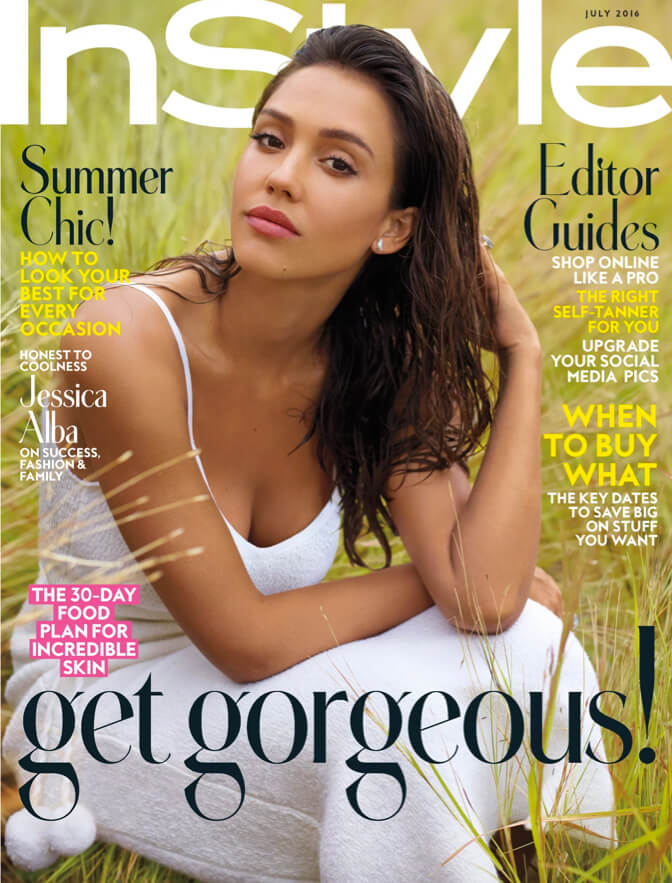Jessica Alba on InStyle Cover July 2016