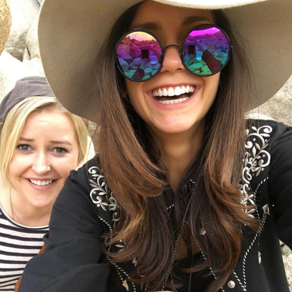 Nina Dobrev wearing Sunday Somewhere sunglasses