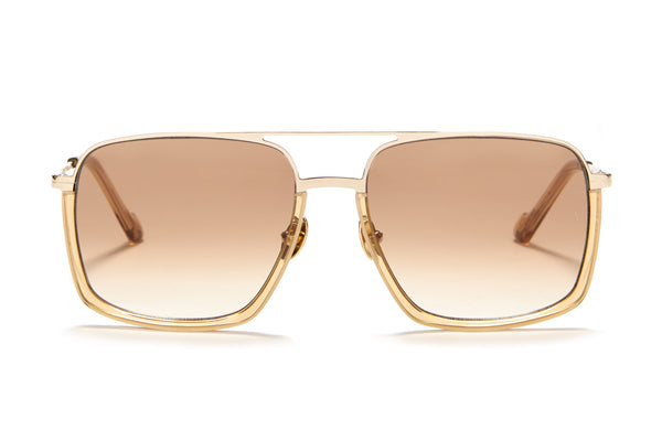 Sunday Somewhere Alec in Champagne Unisex Oversized Aviator Sunglasses