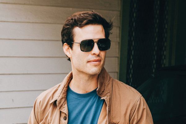 Sunday Somewhere Alec in Black Unisex Oversized Aviator Sunglasses