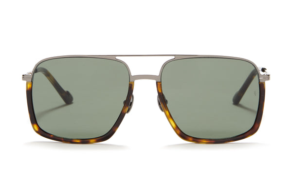Sunday Somewhere Alec in Dark Tort Unisex Oversized Aviator Sunglasses
