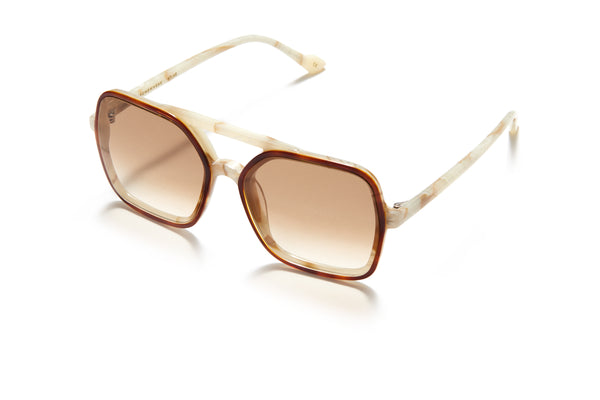 Sunday Somewhere Atlas in Tort Unisex Oversized Aviator Sunglasses