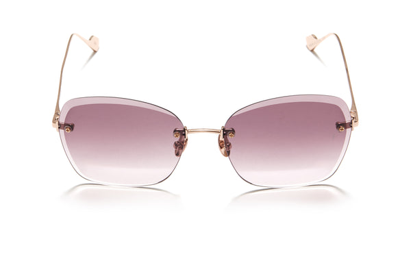 Sunday Somewhere Ava in Rose Gold Women's Rimless Metal Sunglasses