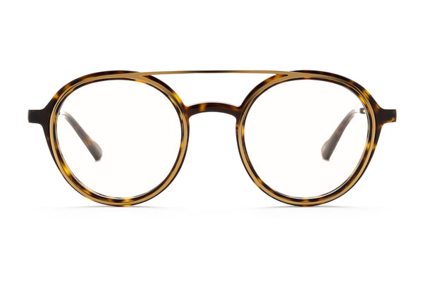Bartolomeo round optical in tortoise