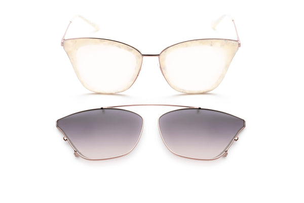 Cleopatra cat-eye optical frame in pink