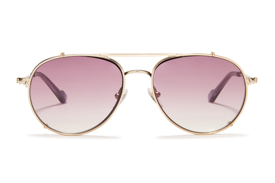 Sunday Somewhere Connie Purple Unisex Aviator Optical Frame