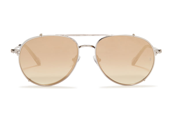 Sunday Somewhere Connie White Unisex Aviator Optical Frame
