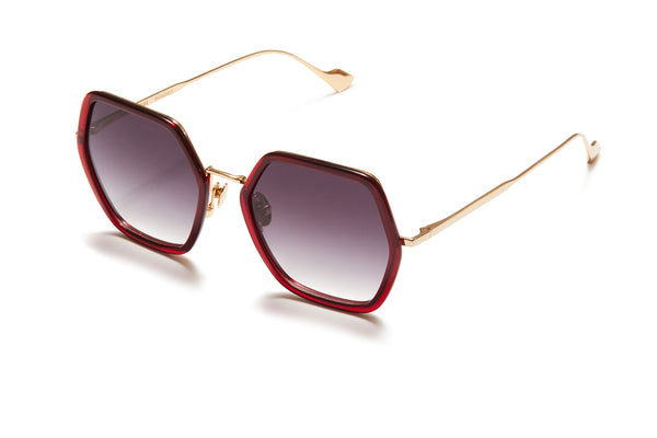 Sunday Somewhere Elizabeth Red Woman's Square Sunglasses