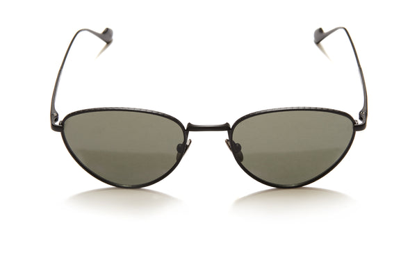 Sunday Somewhere Han in Black Unisex Metal Cat-Eye Sunglasses