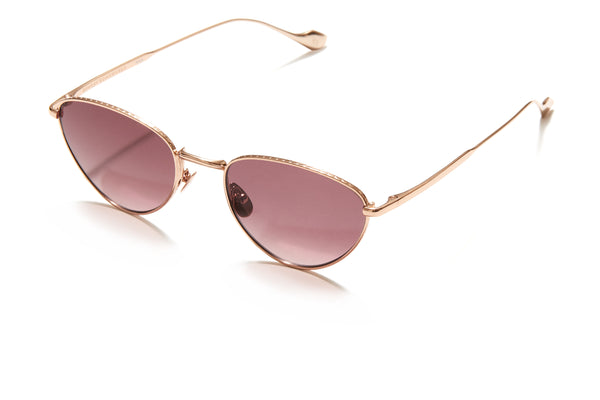 Sunday Somewhere Han in Rose Gold Unisex Metal Cat-Eye Sunglasses
