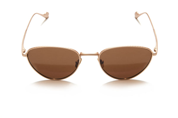 Sunday Somewhere Han in Gold Unisex Metal Cat-Eye Sunglasses