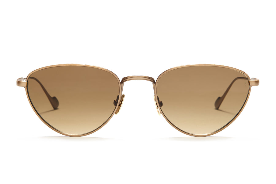 Sunday Somewhere Han in Antique Gold Unisex Metal Cat-Eye Sunglasses