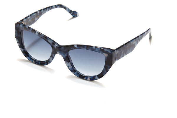 Sunday Somewhere Harper in Blue Tort Women's Oversized Acetate Sunglasses