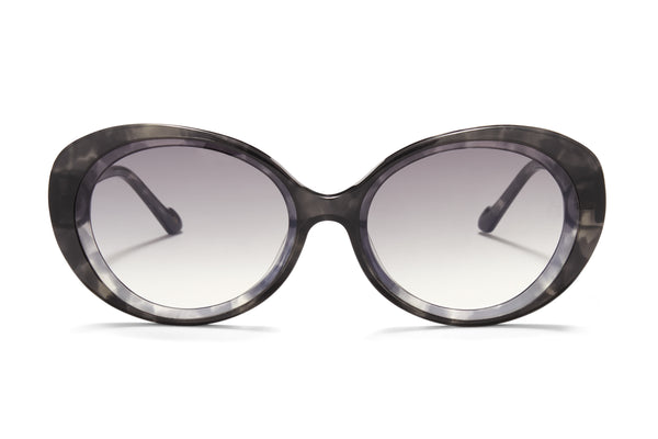 Sunday Somewhere Juniper in Grey Women's Round Acetate Sunglasses