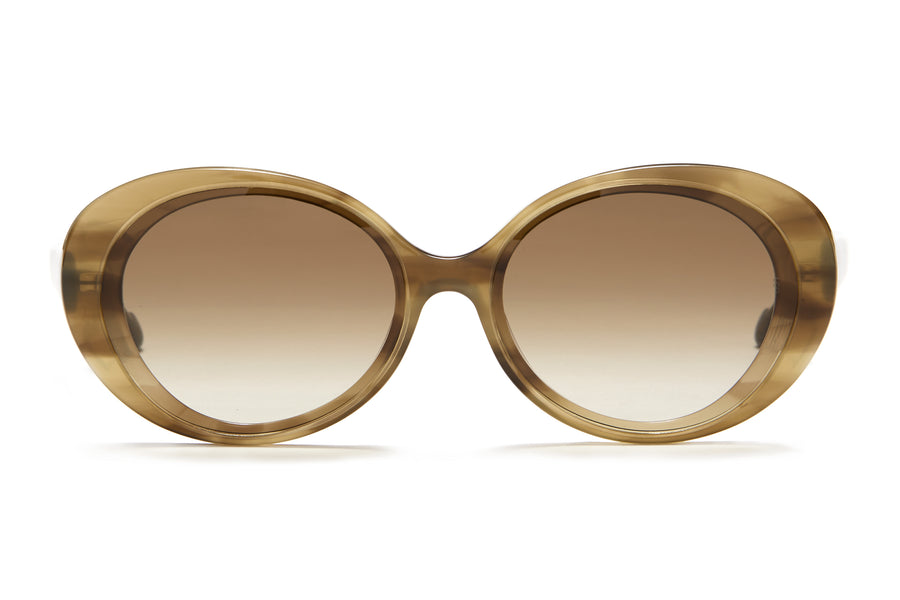 Sunday Somewhere Juniper in Olive Women's Round Acetate Sunglasses