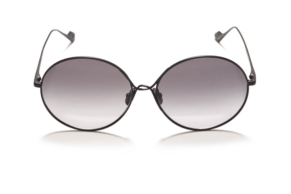 Sunday Somewhere Lola in Black Women's Round Metal Sunglasses