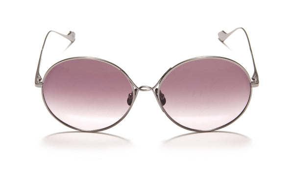 Sunday Somewhere Lola in Gun Metal Women's Round Metal Sunglasses