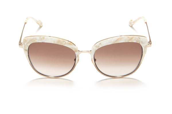 Sunday Somewhere Margot in Mother of Pearl Women's Cat-Eye Combination Sunglasses