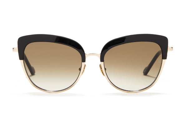 Sunday Somewhere Margot in Black Women's Cat-Eye Combination Sunglasses