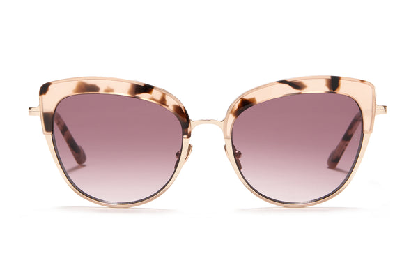 Sunday Somewhere Margot in Pink Tort Women's Cat-Eye Combination Sunglasses