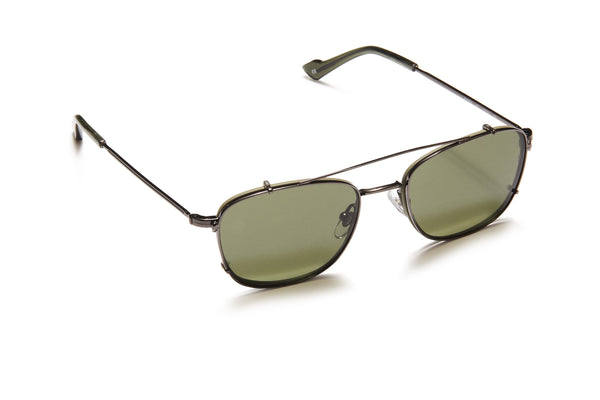 Sunday Somewhere Ottolio Olive Unisex Metal Optical Frame