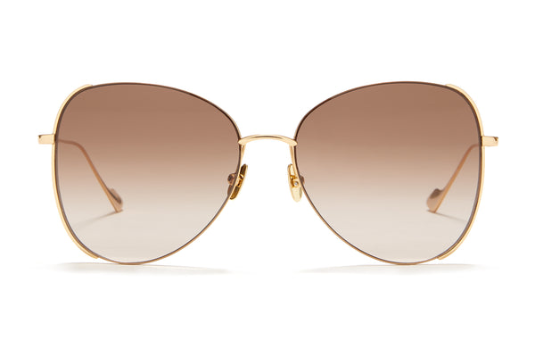 Sunday Somewhere Pip in Gold Women's Oversized Metal Sunglasses