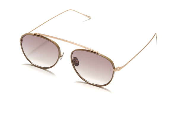 Sunday Somewhere Rocky in Antique Gold Unisex Aviator Sunglasses