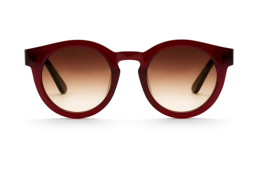 Soelae round sunglasses in red