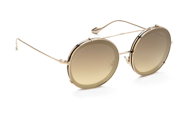 Bells round optical frame in gold