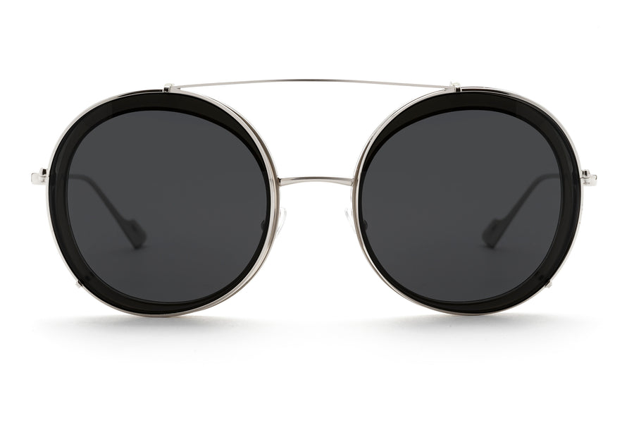 Bells round optical frame in grey