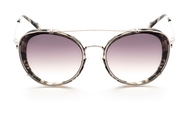 Ines round optical frame in grey tort