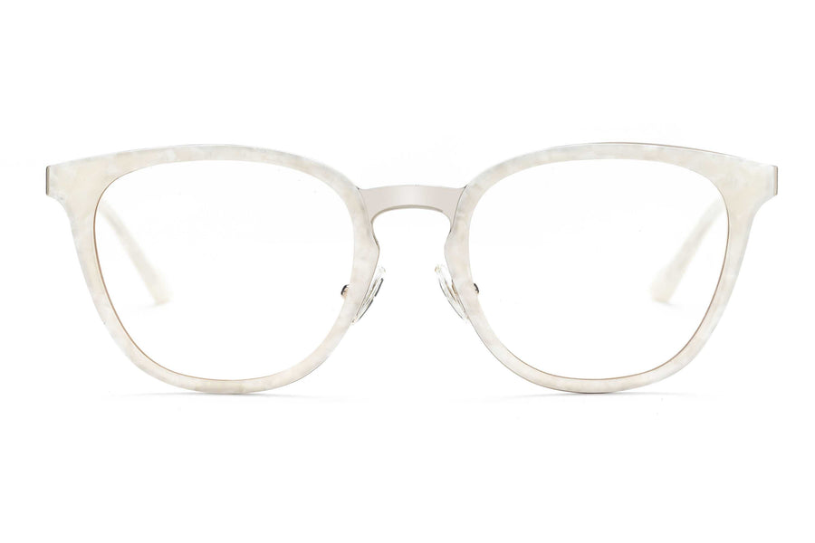 Coco round optical in white