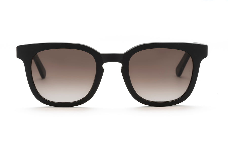ubud unisex sunglasses in matte black