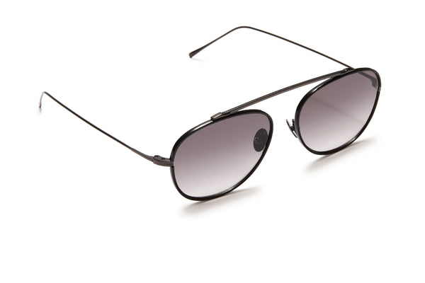 Sunday Somewhere Rocky Black Unisex Aviator Sunglasses