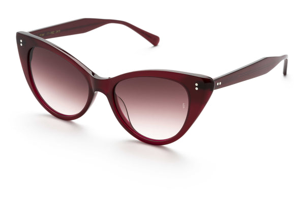 Piper cat-eye sunglasses in red